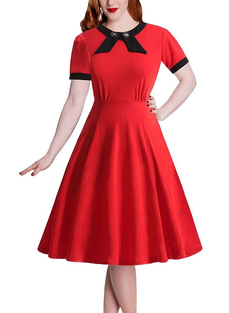 IHOT Women's 1950s Vintage Elegant Bow Casual Retro Evening Party Wedding Dress. at Amazon Women's Clothing store:  https://www.amazon.com/gp/product/B01HNP213I/ref=as_li_qf_sp_asin_il_tl?ie=UTF8&tag=rockaclothsto-20&camp=1789&creative=9325&linkCode=as2&creativeASIN=B01HNP213I&linkId=931554703017965447d1400235e7df08