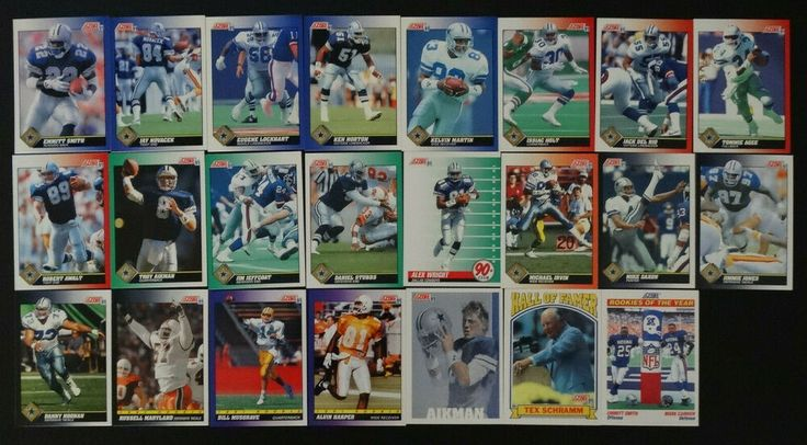 1991 score dallas cowboys team set of 23 football cards
