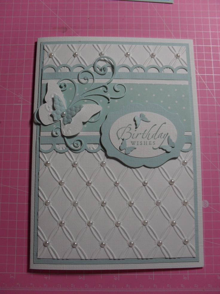 Using Couture Creations Tied Together embossing folder
