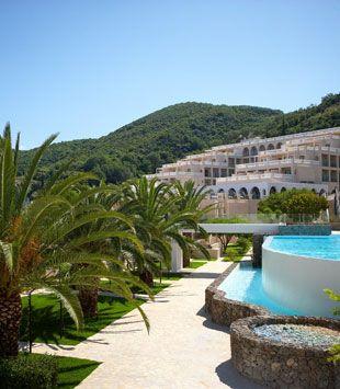 Corfu Hotels  - Marbella Beach Corfu Grounds - Corfu Marbella Beach Hotel has a private beach and a spa facility.