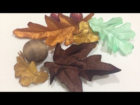 How To Make Satin Ribbon Autumn Leaves - DIY Crafts Tutorial - Guidecentral - YouTube
