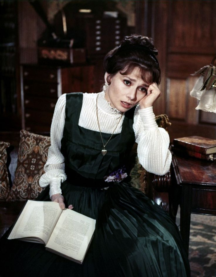 Audrey Hepburn as Eliza Doolittle in the 1964 musical film adaptation of My Fair Lady.