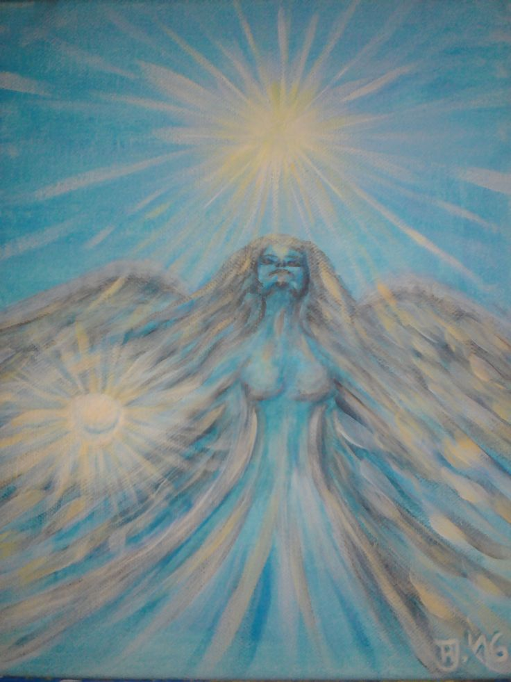 """Angel of My Birth"" ... Acrylic, Mystic..."