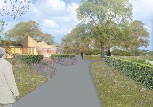 Tea garden at care estate Midgard, landscape design by Bollmer & Partners