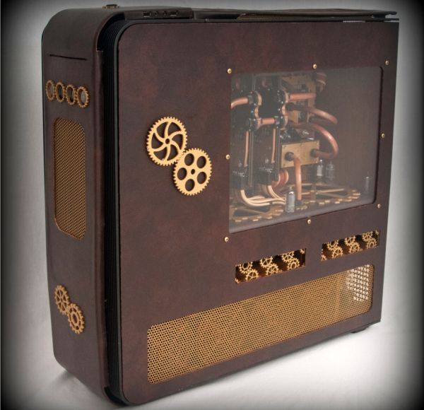 Steampunk'd TJ11 computer case mod by Fuganater
