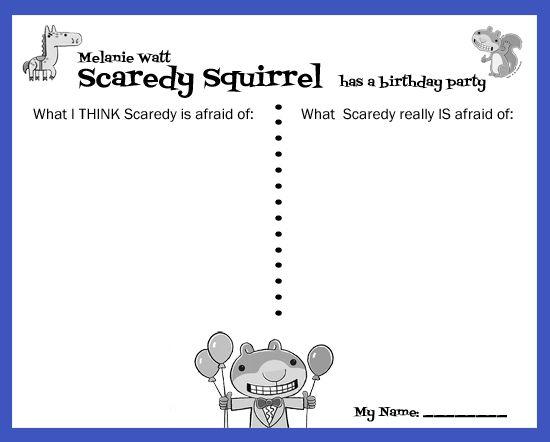 Scaredy Squirrel Freebie                                                                                                                                                                                 More