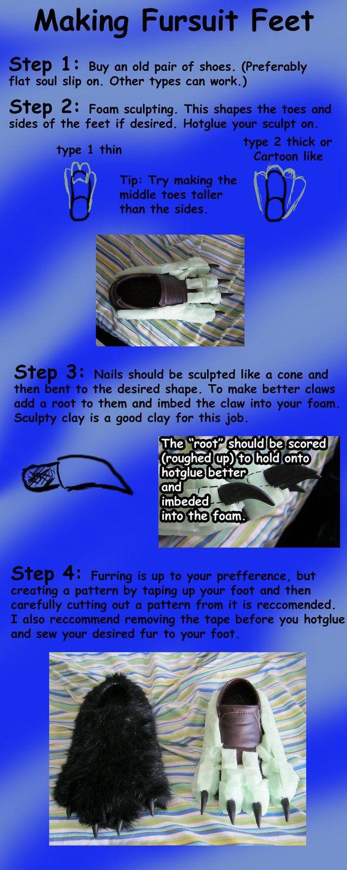 Fursuit Feet tutorial by jmillart on deviantART