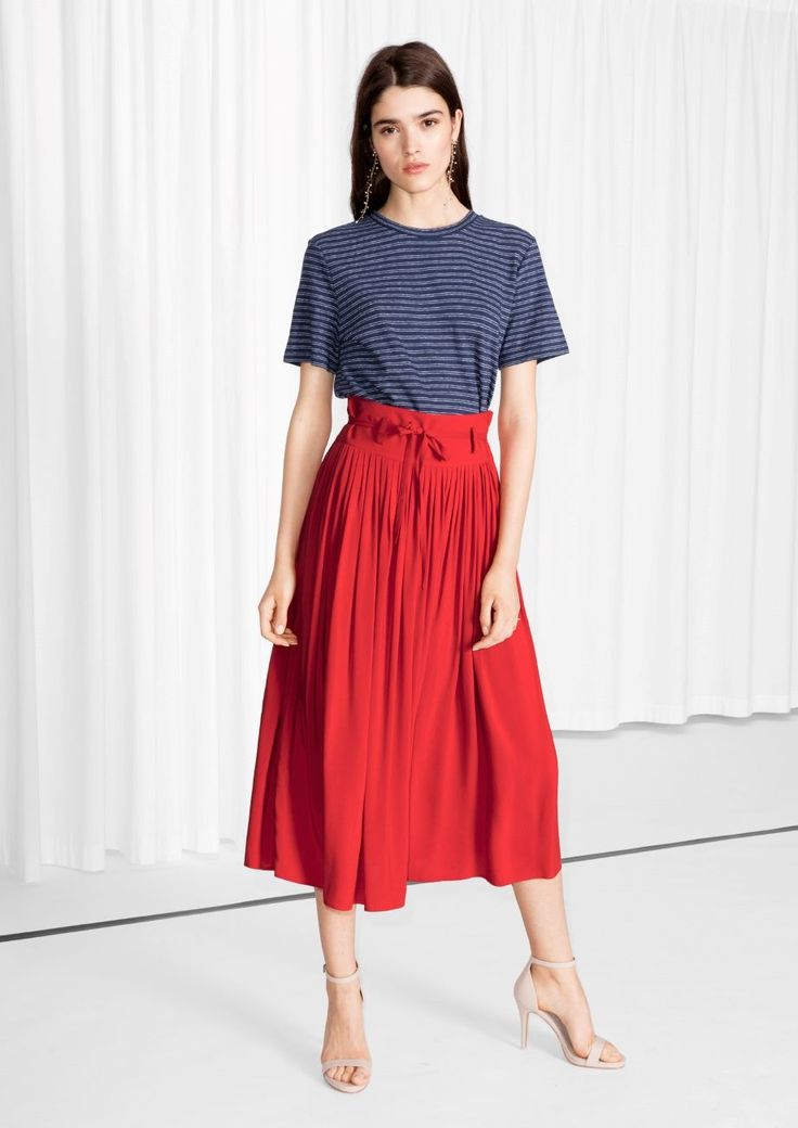The Body Shape Guide You Haven't Seen Yet #refinery29  http://www.refinery29.com/body-types-flattering-clothing-guide#slide-8  & Other Stories High Waisted Pleated Skirt, $65, available at & Other Stories....