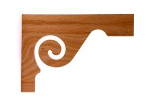 Wood stair brackets