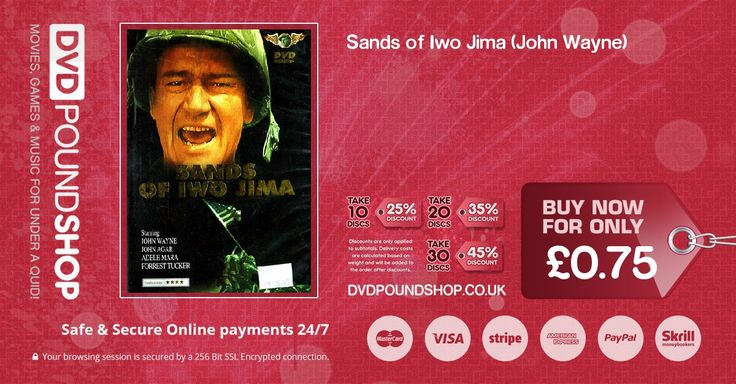 Buy Sands of Iwo Jima (John Wayne) DVD (DVD Movies & Film : Military & War) today for only £0.75 GBP!