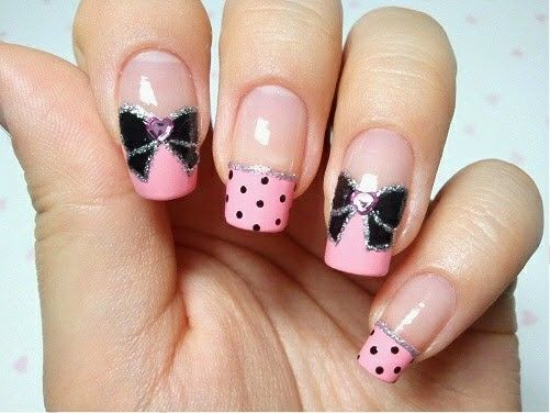 19 best uas kawaii images on pinterest kawaii nails nail arts black and pink bow nail art polka dots and bows go very well together as well as the color scheme of black and pink put them together and you have this prinsesfo Image collections