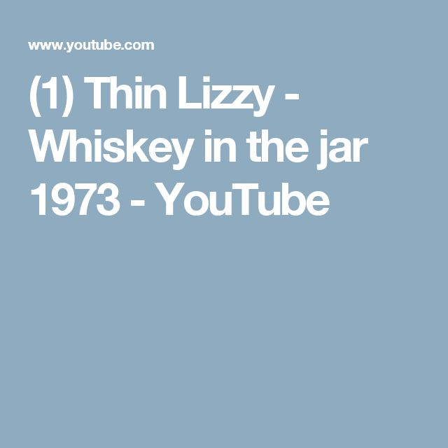 (1) Thin Lizzy - Whiskey in the jar 1973 - YouTube