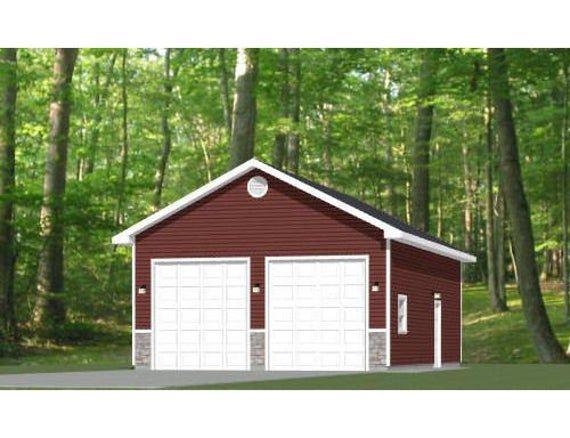 24x36 2 Car Garage 864 Sq Ft Pdf Floor Plan Instant Etsy In 2020 Carriage House Plans Garage Apartments Garage Plans Detached Metal Garage Buildings