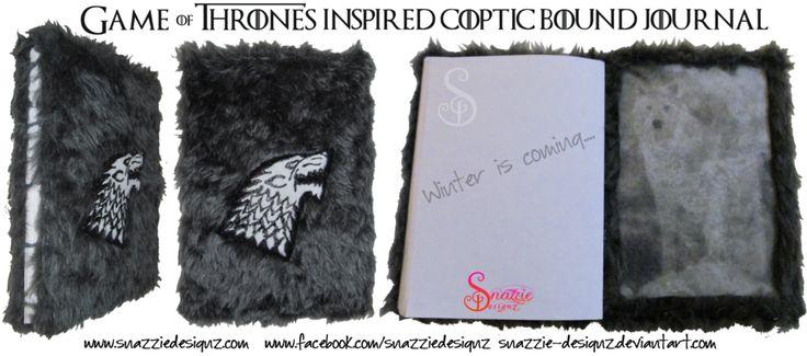 Game of Thrones inspired handmade sketch book. by snazzie-designz.deviantart.com on @DeviantArt