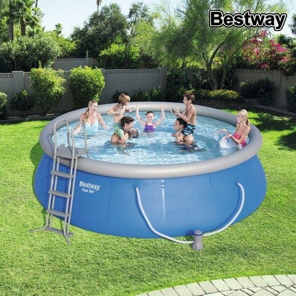 Circular Pool With Filtering System Bestway Bw57289 Circular Pool With Filtering System Bestway Bw57289 Easy Set Pools Pool Swimming Pools