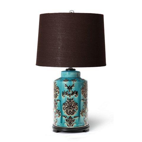 Earth de Fleur Homewares - Blue Rustic Ceramic Table Lamp Home Decor