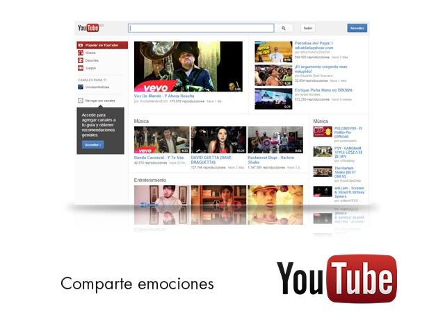Comparte emociones, sentimientos, conocimientos y experiencias en YouTube.