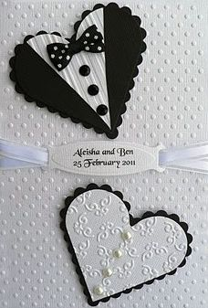 Save The Date - a little different take on the use of the heart for the bride. I like it!