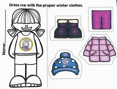 Las ropas de estaciones del año. ~ Educación Preescolar