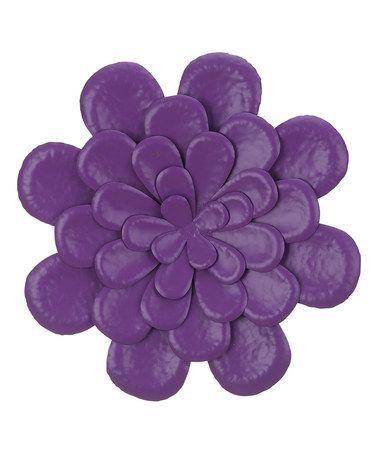 Another great find on #zulily! Purple Metal Flower Wall Art #zulilyfinds