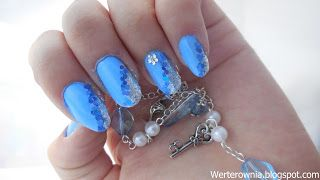 niebieskie paznokcie #kopciuszek #błękitne #paznokcie #werterownia