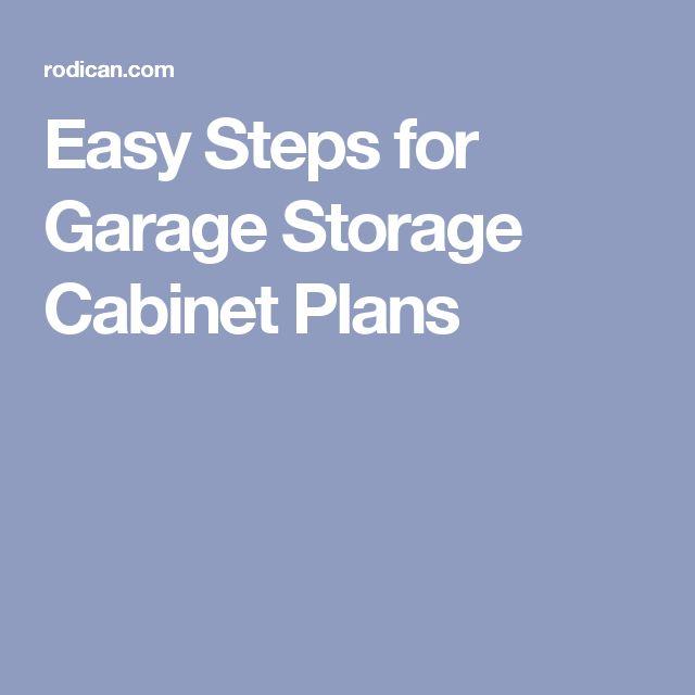 Easy Steps for Garage Storage Cabinet Plans