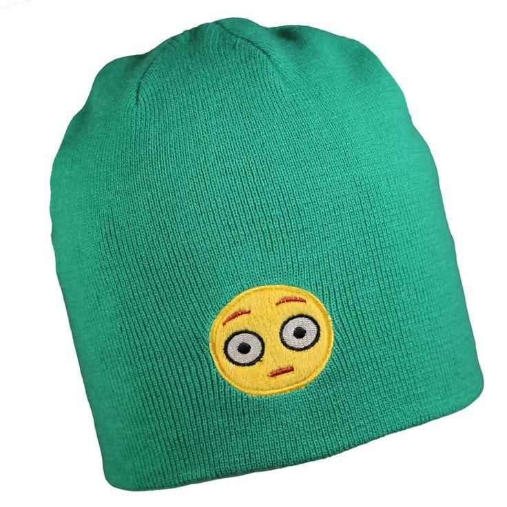 Shocked Emoji Knit Beanie