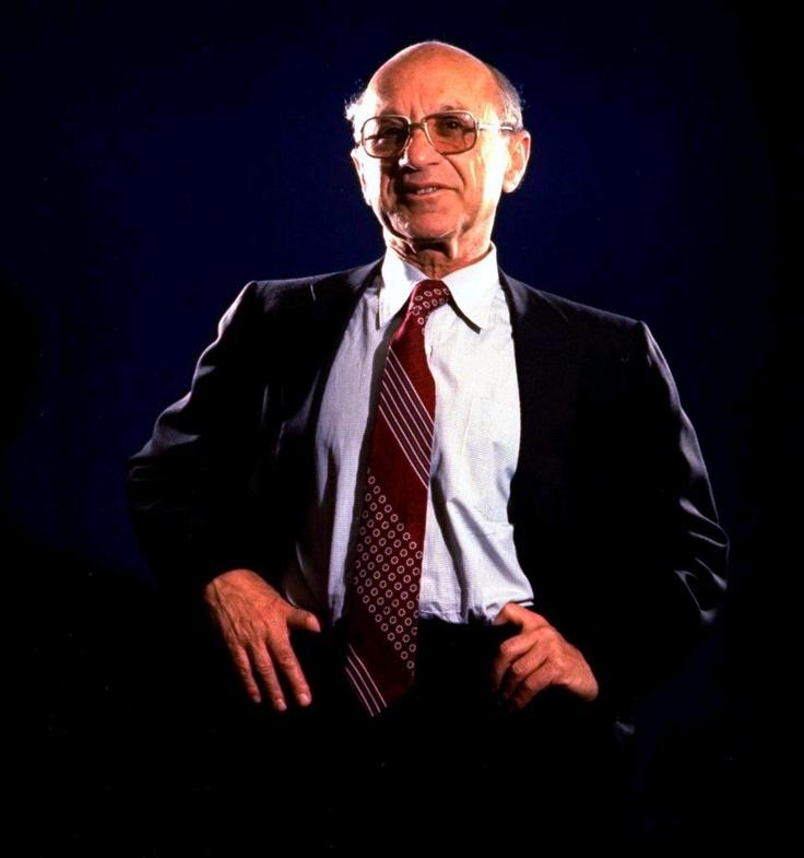 Milton Friedman - Nobel Laureate in Economics, leader of the Chicago School of Economics, Father of Monetarism
