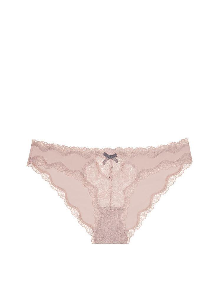 bf8a4f5130 Spitzen-Schnitt Cheekini Panty im Morgengrauen mit Sharkskin Bow – Dream  Angels – Victoria     3