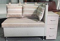Эксклюзивный диван лавочка для прихожей с тумбочкой и нишей для вещей купить в Украине Мягкая мебель для кухни, фото 1
