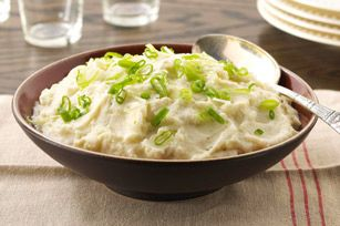 """""""So-Simple"""" Cauliflower Mash recipe, instead of the bottled ranch I use Hidden Valley Ranch from the dry packet, using low fat sour cream and low fat buttermilk"""