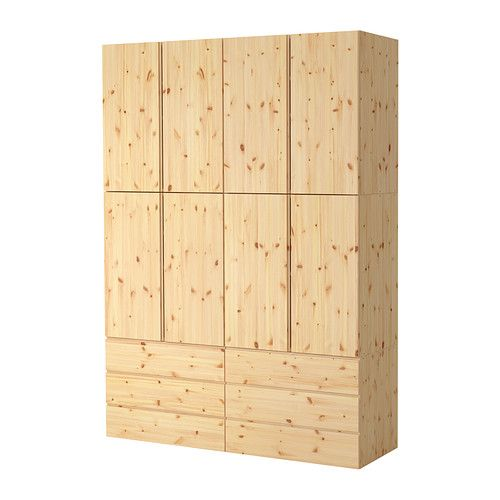 IKEA - IVAR, Storage combination, Untreated solid pine is a durable natural material that can be painted, oiled or stained according to preference.You can personalize the furniture even more by staining or painting it your favorite color.
