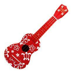 Red Hawaiian Ukulele Toy by KC Hawaii. $14.99. Luau party toy ukulele. Measures 21 inches long. Painted with white sea turtles and flowers. Fun ukulele, great accent piece for a tropical-themed room, beautifully-colored and decorated