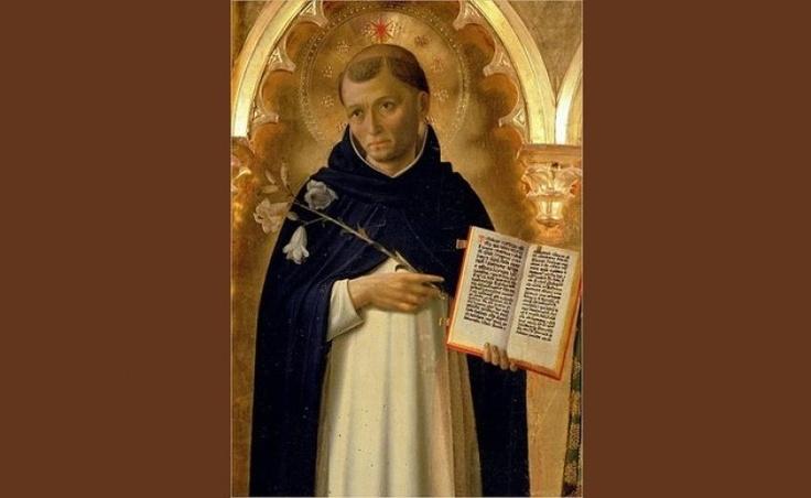 Na rycinie św. Dominik, od którego św.Jacek Odrowąż, jeden z pierwszych właścicieli Pałacu w Chlewiskach, otrzymał swój dominikański habit.