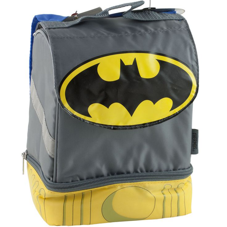 Batman Lunch Kit with Cape Batman Lunch BOX TOTE THERMOS NEW #Thermos #LunchBag #Lunch