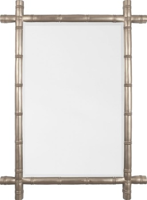 Silver bamboo mirror: Decor Mirror, Gold Leaf, Gold Mirror,  Fireguard, Silver Bamboo, Bamboo Mirrorfr, Fire Screens, Mirror Images, Powder Rooms