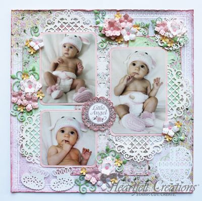 Heartfelt Creations | Little Angel Layout My Favorite for Avery's, Charlotte's and ? baby scrapbook