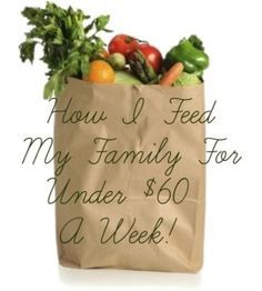 Week 2: How I Fed My Family For $48.90 This Week! Frugal weekly meal plan with recipes and shopping list. #recipe #frugal