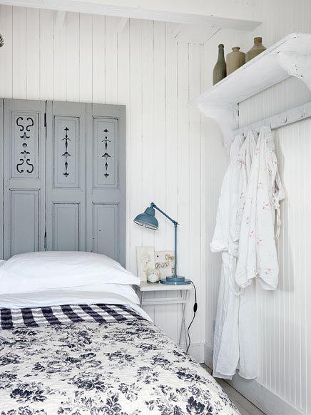 Slaapkamer van romantisch strandhuisje!