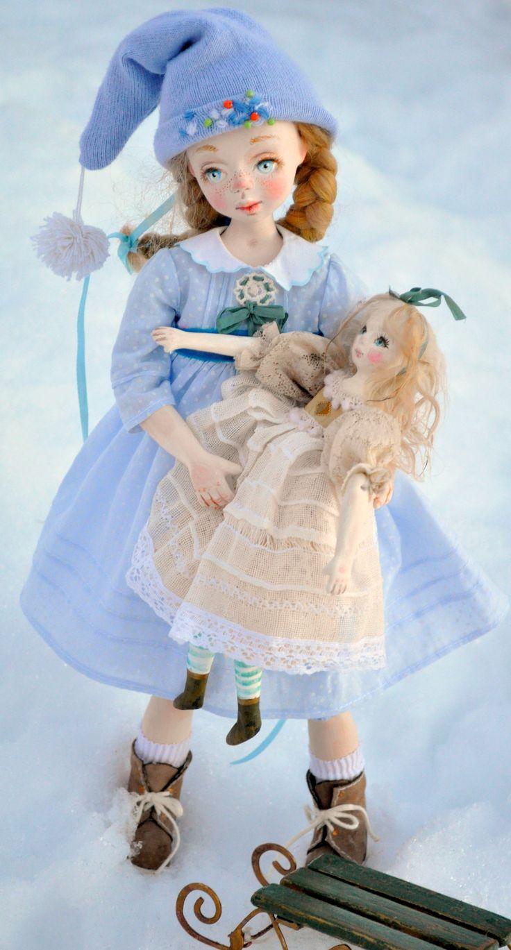 Авторская кукла Снежные сугробы автор Пущина Татьяна