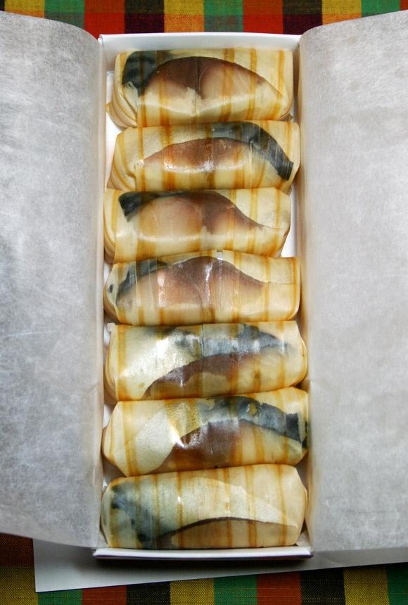 Sugi Sushi: Cedar Wrapped Mackerel Sushi Package