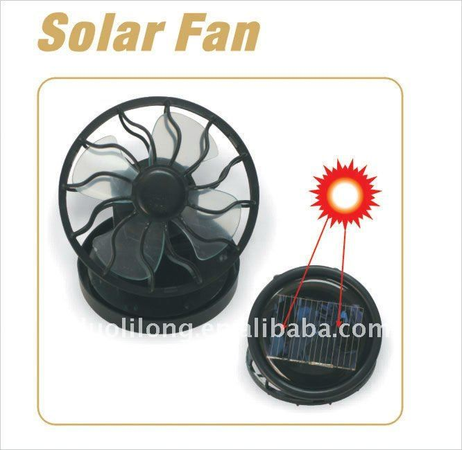 how to create a solar powered fan