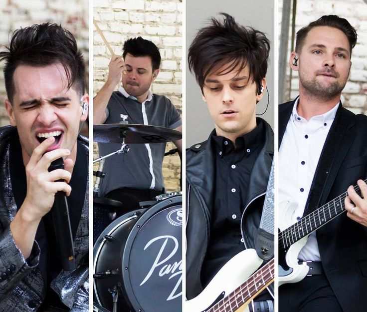 Brendon, Spencer, Dallon and Kenneth who is the touring guitarist (I think he may also be an official member now).
