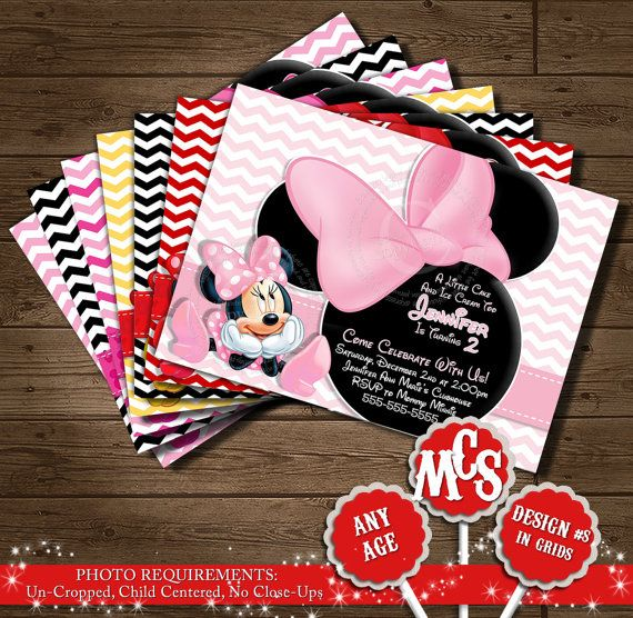 263 best baby shower images on pinterest | minnie mouse party, Birthday invitations