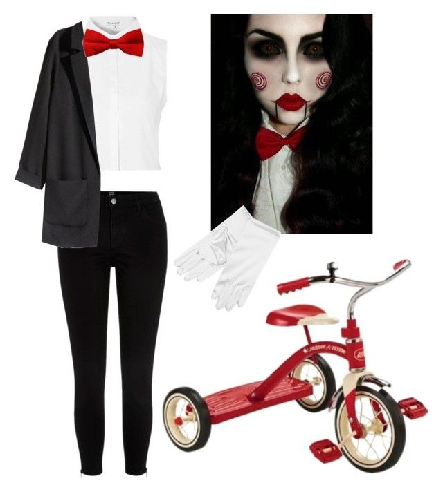 """Saw Costume"" by hampster12 ❤ liked on Polyvore featuring Glamorous, River Island, H&M, women's clothing, women, female, woman, misses and juniors"