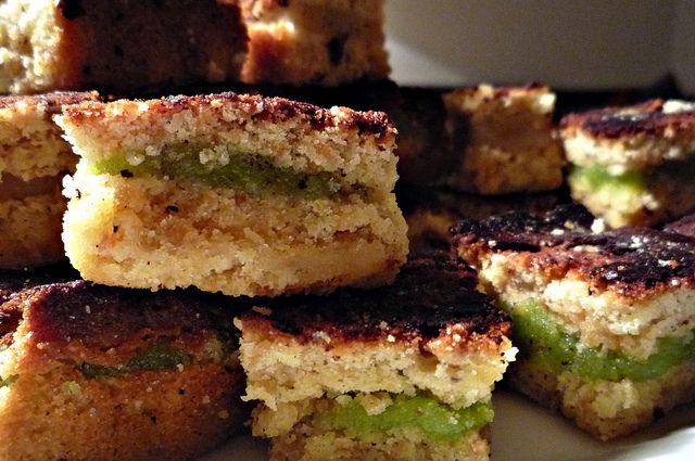 White Chocolate Brownies with Marcipan | Flickr - Photo Sharing!