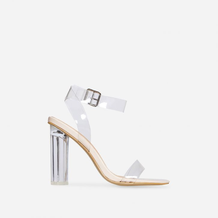 Ariana Strappy Sandal In Clear Perspex | EGO