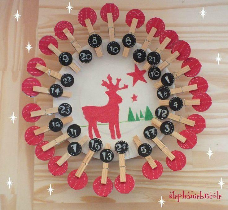 Faire soi-même un calendrier de l'Avent avec des pinces à linge !!!… TUTO, DIY