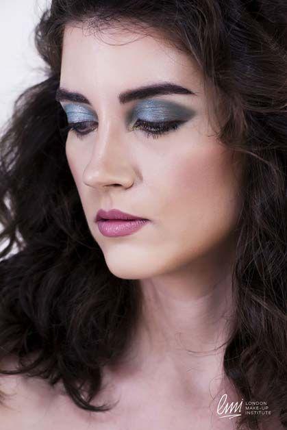 Makeup idea from LMI students. #makeup #blue #eyeshadow #makeupartist