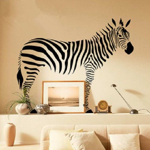 Giant Zebra Animal Removable Peel U0026 Stick Wall Decal Sticker SL9057 Part 80